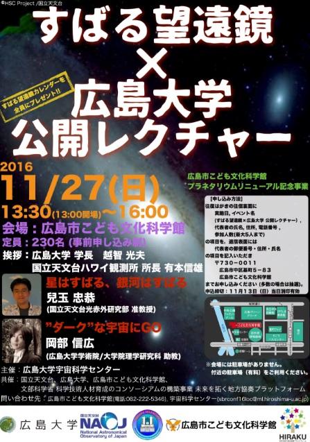 「すばる望遠鏡×広島大学」 公開レクチャー
